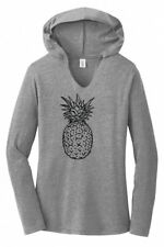 Pineapple Ladies Hoodie Tri-Blend Tee Shirt Food Graphic Tee