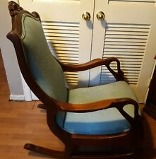 Antique Solid Wood Swan/Goose Kneck Rocking Chair