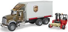 Bruder Toys Mack Granite UPS Logistics Truck w/ Mobile Forklift 02828 NEW 2018