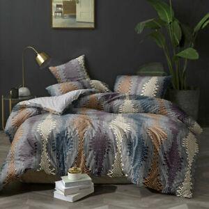 Quilt Duvet Doona Cover Set Queen/King Modern Pattern Printed Mr Cotton H22