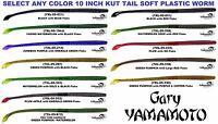Gary Yamamoto Worm 10 Inch Kut Tail Soft Plastic Bait Any Color 7XL-05 Fish Lure