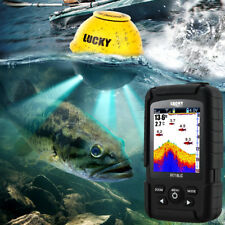 Lucky Rechargeable Wireless Sonar Sensor 45M Fish Finder + Attractive Lamp Alarm