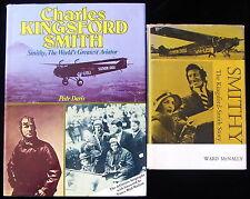 Charles Kingsford Smith Australian Aviator Signed Nancy Bird + Smithy Biography