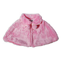 New Girls Faux Fur Bolero Poncho available in Ivory Pink 2 3 4 5 6 7 Years