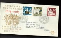1963 Netherlands first day Cover to USA fdc