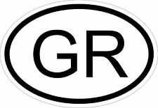 GR GREECE COUNTRY CODE OVAL STICKER bumper decal car