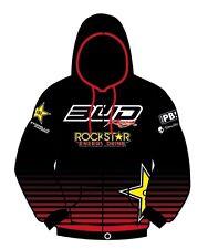 SWEAT CAPUCHE ZIP TEAM BUD RACING ROCKSTAR ENERGY 2012 ROUGE / M