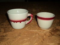 Jackson Restaurant Ware china cups, made in the USA