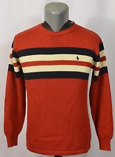 VTG NWT Ralph Lauren Polo Ski Sweater Made in Japan Striped New L Rugby Sport