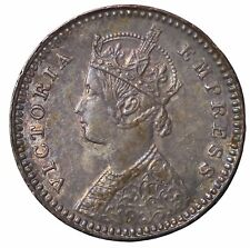 British India Queen Victoria 1896-C Silver 2 Annas KM#488