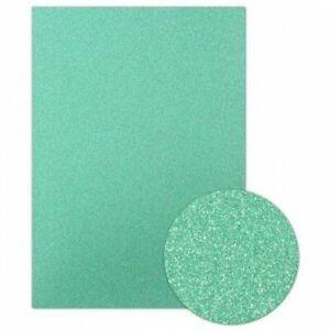 Hunkydory DIAMOND SPARKLES Non-Shedding Shimmer Card JADE GREEN - 5 x A4 Sheets