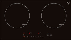 "K&H Double Burner 24"" Induction Ceramic Cooktop 220V INDH-3102Hx"