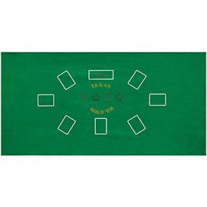 "36"" x 72"" Green Texas Holdem Poker Casino Gaming Table Top Felt Layout Mat"