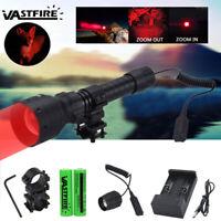 500Yards Red HUNTING ZOOM GUN LIGHT SPOTLIGHT LED TORCH SPOT LIGHT SCOPE MOUNTED