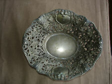 Beautiful Vintage Fruit Bowl, Table Center,Very Ornate Antique #367