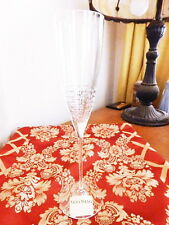 Vera Wang Wedgwood Crystal VERA LACE BOUQUET Champagne Flutes (S) Glass - NEW!