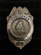 Weehawken Nj New Jersey Fireman Fire Badge Cairns Olson Reese Wilson Braxmar