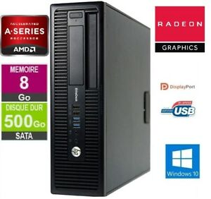 HP EliteDesk 705 G1 SFF PRO A4 3,8 GHz -  HDD 500 Go RAM 8 Go Win10