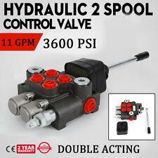 2 Spool Hydraulic Monoblock Double Acting Control Valve 11 Gpm Bspp Ports Us