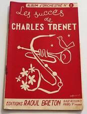 Partition vintage sheet music CHARLES TRENET : Les Succès de * 30's Piano Chant