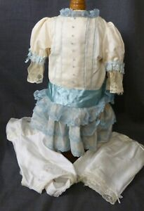 DRESS with UNDERWEAR FOR ANTIQUE DOLL, DOLL CLOTHING, DOLL OUTFIT