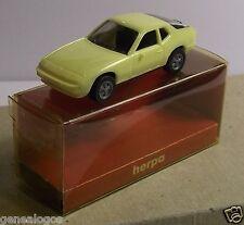 MICRO HERPA HO 1/87 PORSCHE 924 JAUNE CLAIR IN BOX