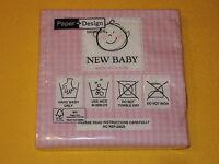 20 Servietten Baby Geburt taufe rosa Packung mädchen paket papier WASCHANLEITUNG