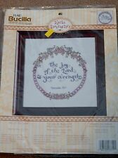 Bucilla 43710 Joy of the Lord Counted Cross Stitch Kit - NEW - FREE SHIPPING