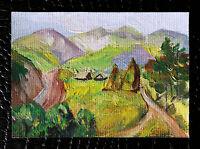 "Original art by Bastet ""Landscape #8"" OOAK hand painted ACEO"