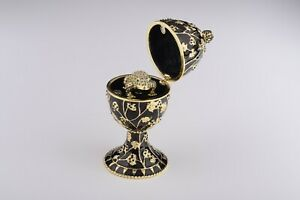 Faberge Egg & Frog trinket box hand made by Keren Kopal & Austrian crystals