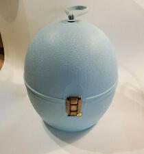Vintage LaRonde La Ronde By Jet Set Retro Hat Wig Carrier Case Blue