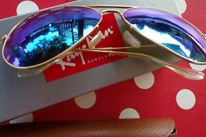 Sonnenbrille Ray Ban Aviator blau neu