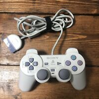 Sony Playstation 1 PS1 Official Gray Controller SCPH-110 Dual Shock