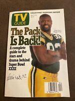 1997 Reggie White TV Guide Green Bay Packers Roots Bette Milder Christa Miller