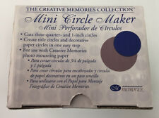"Creative Memories Punch Mini Circle Paper Maker Punch Card Making 3/4 & 1"" NEW"