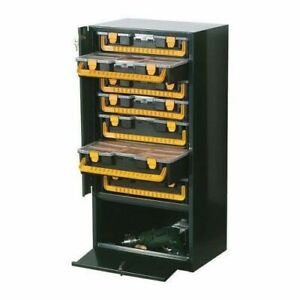 Van Racking Lockable Metal Cabinet with Removable Tool Carry Case Organisers