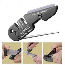 Lansky Pocket Knife Sharpener Diamond Tungsten Carbide Ceramic Sharpening Blade