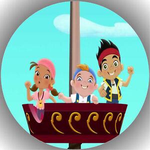 Tortenaufleger Tortenbild Fondant - Oblate Jake und die nimmerland Piraten P3