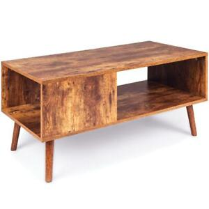 Best Choice Products Wooden Mid-Century Modern Retro Coffee Table, Indoor Furnit
