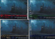 Harry Potter Prisoner of Azkaban Update 16 Card Blue/Red/Green/Gold Promo Set
