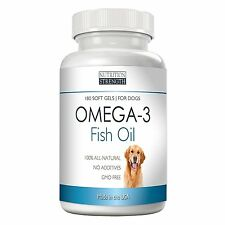 Omega 3 Wild Fish Oil For Dogs Nutrition Strength (EPA DHA), 180 Soft Gels