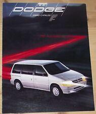 Prospekt Dodge Programm 1991 USA Caravan Monaco Dynasty Spirit Shadow Colt