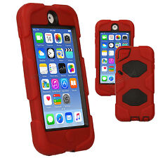 Apple iPod Touch 6 / 6th Tough Survival Rugged HEAVY DUTY Shock Protective Case