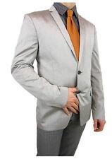 CALVIN KLEIN €399 Mens New Grey Formal Fitted Business Blazer Jacket sz 36 M J23