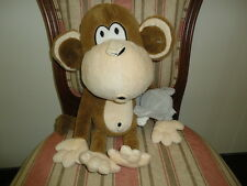 BOBBY JACK Brand Monkey with Mouse Stuffed Toy 17 inch