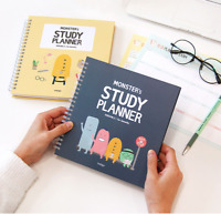 For 6 Months Monster's Study Planner Ver.2 Monthly Weekly Daily Academic Planner