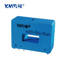 YHDC HA55 Closed Loop Hall Current Sensor Input 50A Output 50mA PCB Mount Blue