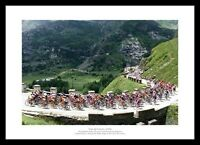 Tour de France: Sestrieres to L'Alpe-D'Huez Cycling Photo Memorabilia (310)