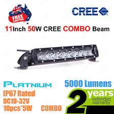 11inch 50W SLIM CREE LED Light Bar Work COMBO Beam High Intensity Platinum Serie