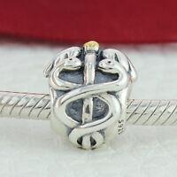 Real 925 Sterling Silver Nurse Lifesaver suit Pandora bracelets Charm 791042
